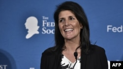 South Carolina Governor Nikki Haley is seen during the 2016 National Lawyers Convention sponsored by the Federalist Society in Washington, D.C., Nov. 18, 2016.