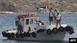 Yunanıstan Fələstin tərəfdarı fəalların kiçik gəmisini saxlayıb