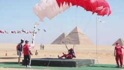 Skydivers Promote Tourism Industry in Egypt