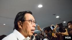香港立法會主席梁君彥。(美國之音湯惠芸攝)