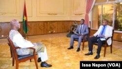 Christophe Marie Joseph Dabiré, Premier ministre burkinabè, à Ouagadougou, le 21 juillet 2019. (VOA/Issa Napon)