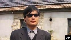 中國盲人異見人士陳光誠(資料圖片)