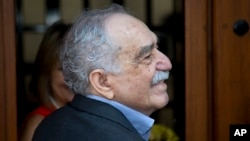 FILE - Colombian writer Gabriel Garcia Marquez, March 6, 2014.