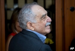 FILE - Colombian writer Gabriel Garcia Marquez, March 6, 2014.