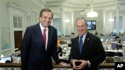 Ο κ. Σαμαράς με τον Δήμαρχο της Νέας Υόρκης Μάικλ Μπλούμπεργκ.