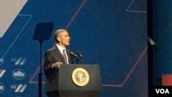 ປະທານາທິບໍດີ ສະຫະລັດ ທ່ານ Barack Obama.