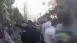 فیلمی از حمله ماموران به زنان و دختران در چهارراه ولیعصر تهران