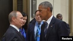 عکسی از دیدار روز دوشنبه اوباما و پوتین در نشست گروه ۲۰ در چین
