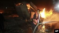 以軍空襲加沙報復火箭彈襲擊