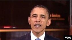 Presiden AS Barack Obama menyerukan penggunaan bahan bakar alternatif yang ramah lingkungan.