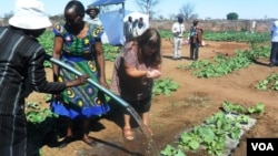 UNkosazana Kersti Palmberg loSikhwicamfundo Mlilo banatha amanzi apontshwa ngamandla awelanga - awe solar.