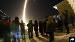 Lancement de la fusée Soyouz.