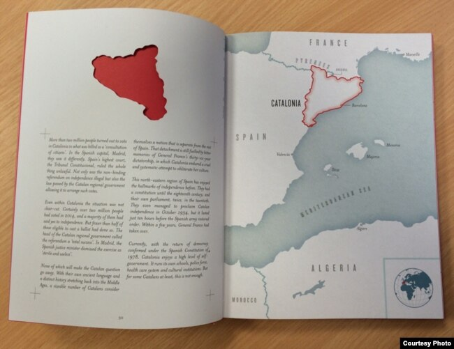 "A look inside Nick Middleton's new book, ""The Atlas of Countries that Don't Exist: A Compendium of Fifty Unrecognized and Largely Unnoticed States."" (Photo courtesy of Nick Middleton)"