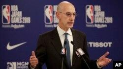 Adam Silver, patron de la NBA, le 8 octobre 2019