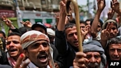 Người Yemen hô khẩu hiệu trong cuộc biểu tình đòi Tổng thống Saleh từ chức