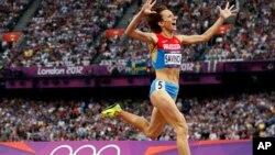 Ruskinja Marija Savinova pre četiri godine u Londonu kada je osvojila zlatnu olimpijsku medalju u trci na 800 metara