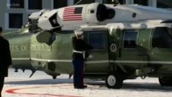 Trump arrives for Davos Economic Forum