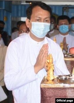 ရန္ကုန္တိုင္း၀န္ႀကီးခ်ဳပ္ ဦးၿဖိဳးမင္းသိန္း (ဓာတ္ပံု - Yangon Region Government - ေမ ၂၄၊ ၂၀၂၀)