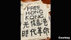 洛杉矶部分华人星期六、星期天集会力挺香港捍卫自由 (原图由洛杉矶中国民主党界立建提供)