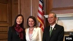 Chủ tịch Hạ viện Mỹ Nancy Pelosi tại sự kiện kỷ niệm quan hệ Mỹ-Đài Loan