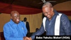 Nana Akufo Addo dan hamayya da John Dramani Mahama shugaban kasa mai ci yanzu
