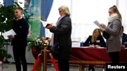 На одном из избирательных участков в столице Беларуси
