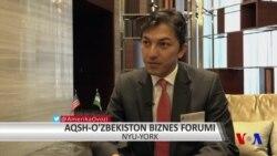 AQSh-O'zbekiston biznes forumi: Otabek Nazirov