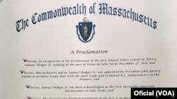 Proclamação Dia de Cabo Verde, Massachusetts