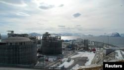 FILE - A photo of the Norwegian liquefied natural gas plant, Statoil-run Snoehvit LNG, on Melkoeya island near Hammerfest April 22, 2013.