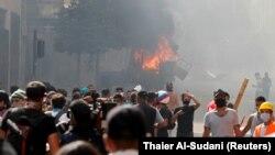 Protestos em Beirute, Líbano. 8 de agosto 2020
