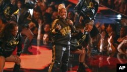 Video Vanguard recipient Missy Elliott performs a medley at the MTV Video Music Awards at the Prudential Center in Newark, N.J., Aug. 26, 2019.