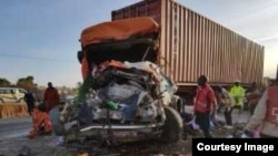Un accident de la circulation au Kenya, le 31 juillet 2015.