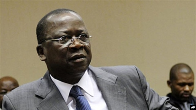 Ivorian justice minister Jeannot Ahoussou pictured here in Brussels on March 10, 2011