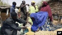 Vendeurs de céréales au Niger