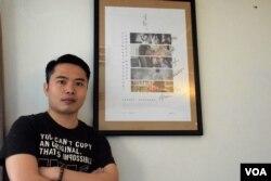 香港電影《十年》導演歐文傑。(美國之音湯惠芸攝)