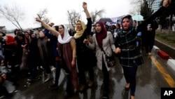 2015年3月24日阿富汗妇女抗议示威要求正义