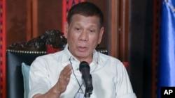 Presiden Filipina Rodrigo Duterte di Istana Malacanang, Manila, Filipina, 3 April 2020. (Foto: dok).