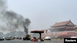 28일 중국 베이징의 톈안먼에서 의문의 교통사고가 발생했다.