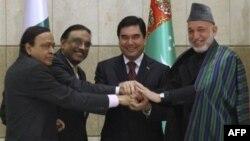 Лидеры четырех государств на церемонии подписания соглашения