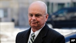"""FILE - Former CIA Director Michael Hayden, pictured at a Munich security conference in February 2012, says having an """"open dialogue"""" with the intelligence community will make Donald Trump """"a better president."""""""