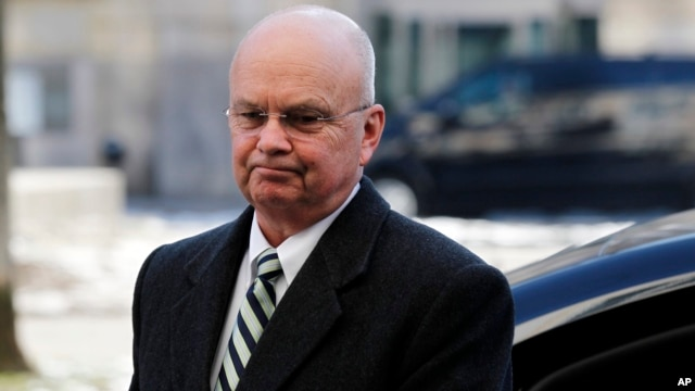 FILE - Former CIA Director  Michael Hayden arrives at the Munich Security Conference, Friday Feb. 3, 2012.