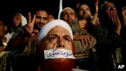 被推翻的穆爾西總統的支持者 (資料照片)