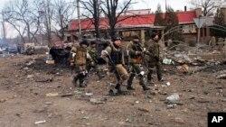2015年2月19日亲俄分离分子在德巴尔切夫
