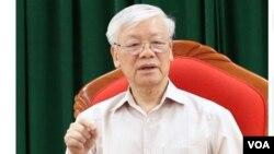 Hình ảnh ông Nguyễn Phú Trọng xuất hiện lần đầu tiên vào ngày 14/5/2019 trên truyền thông Việt Nam.