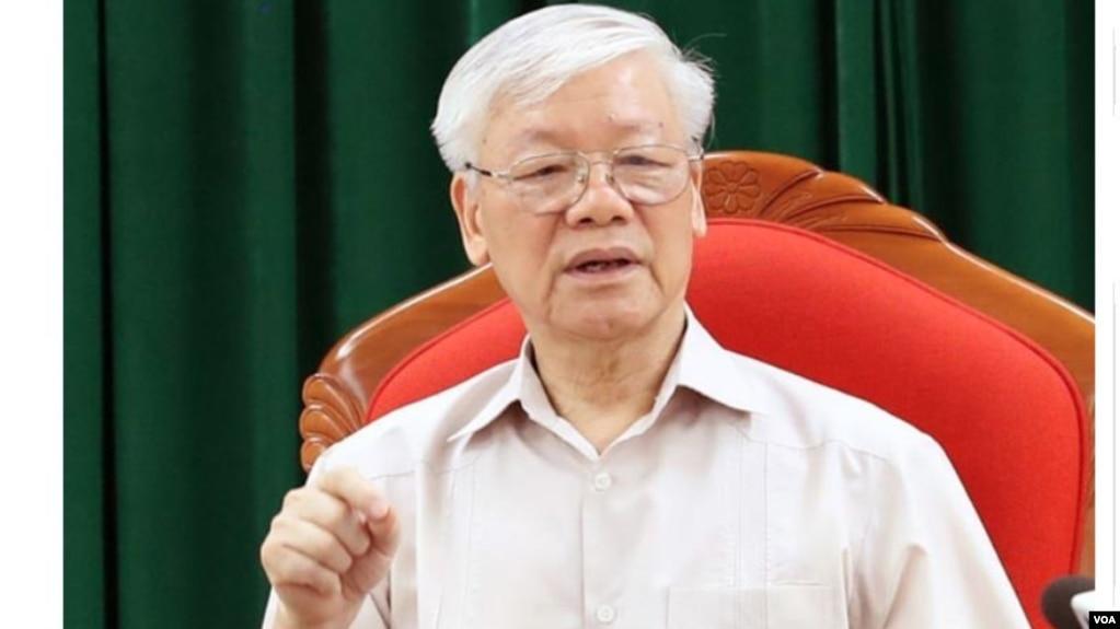 Ông Nguyễn Phú Trọng tái xuất hiện lần đầu tiên vào ngày 14 tháng Năm. (Hình: Trích xuất từ VnExpress)