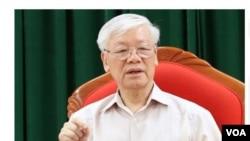 Ông Nguyễn Phú Trọng xuất hiện lần đầu tiên vào ngày 14 tháng Năm. (Hình: Trích xuất từ VnExpress)