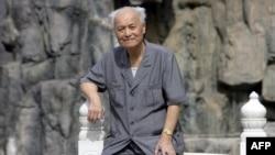 中共自由派代表人物李锐,照片拍摄于2006年9月
