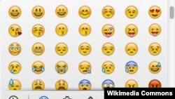 Berbagai bentuk emoji yang populer saat ini (foto: Wikipedia).