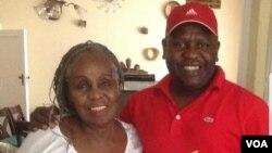 The late Dorothy Masuka and radio personality Ezra 'Tshisa' Sibanda.