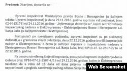 Upravni inspektorat Ministarstva pravde BiH naložio Eelektroprenosu BiH da otkloni nepravilnosti u zapošljavanju Sanje Radojičić